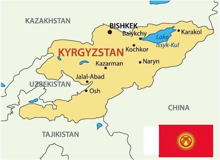 Map of Kyrgyzstan